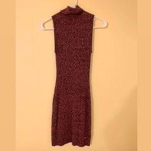 Guess | Turtleneck Sweater Dress | Midi | Red | XS